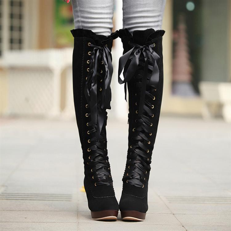 cute kitchen gadgets remodel orange county lady fashion lace up bow boots on storenvy