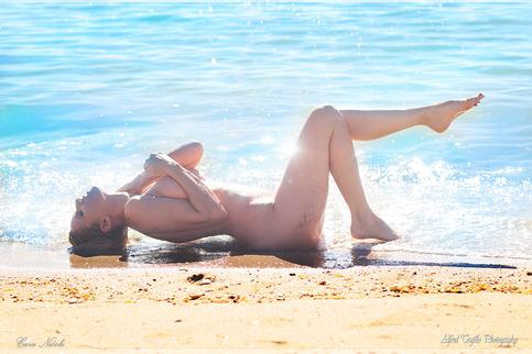 Beach Nude 11x17  Fine Art Print Cara Nicole photo by
