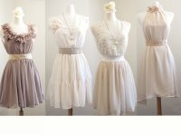 French Lace Mismatched bridesmaid dresses / Neutral Dress ...