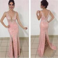 Pink Sequin Shiny Prom Dresses,Sparkly Prom Dress For ...