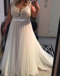 Lace Appliqued Soft Tulle Beach Wedding Dresses,Plus Size ...