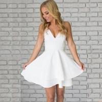 A-line V-neck Lace Back 2017 Homecoming Dress Short ...