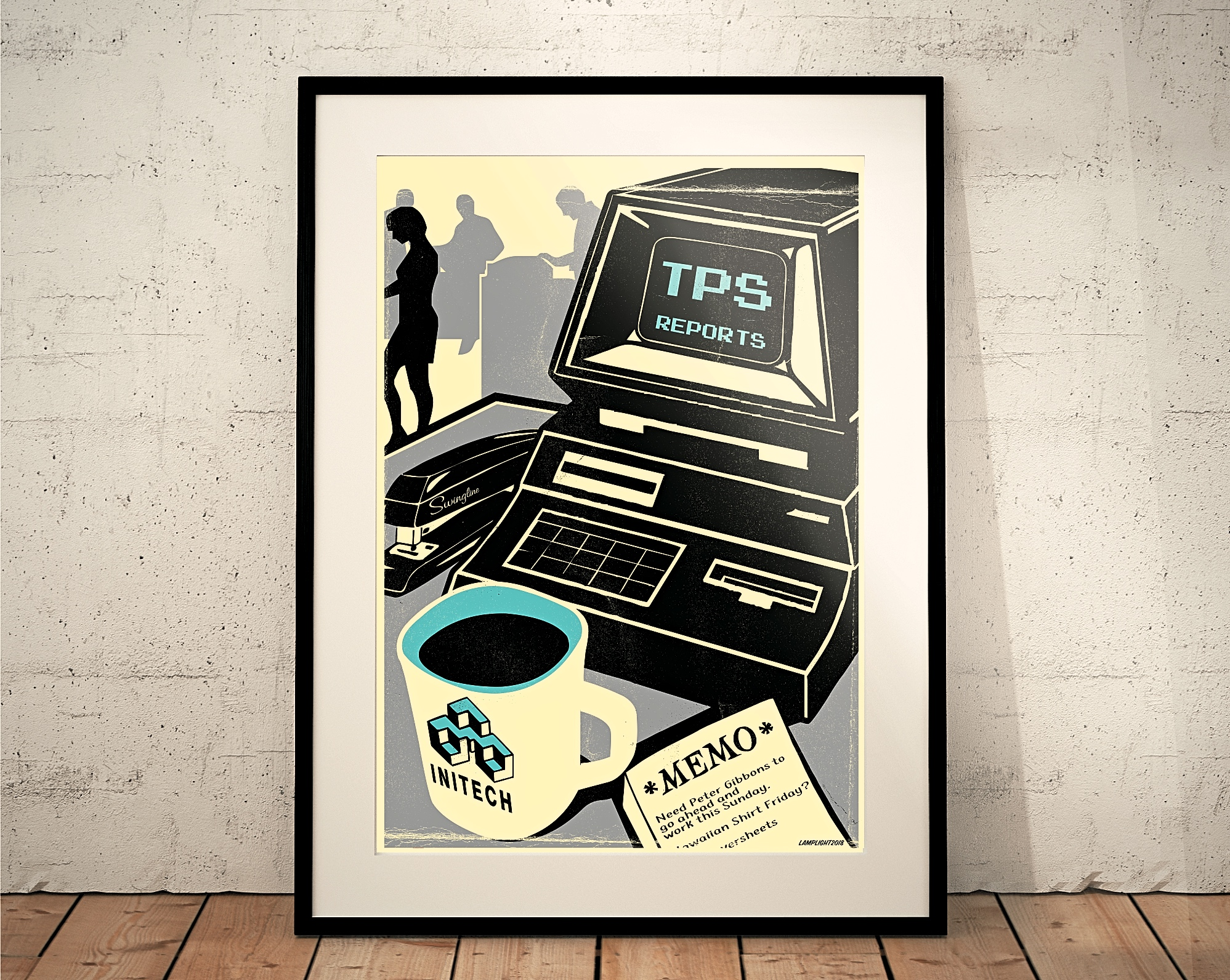 office space print poster tps