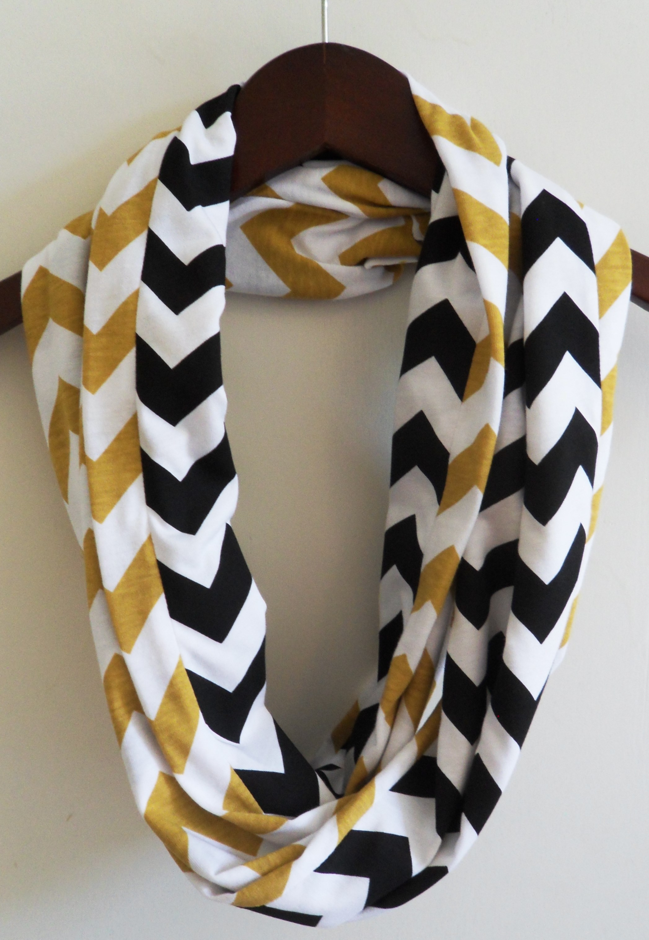 kitchen gadgets store shops infinity scarf- gold and black chevron on storenvy