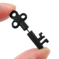 3D Fake Gauge Realistic Antique Key Shaped Stud Earrings ...