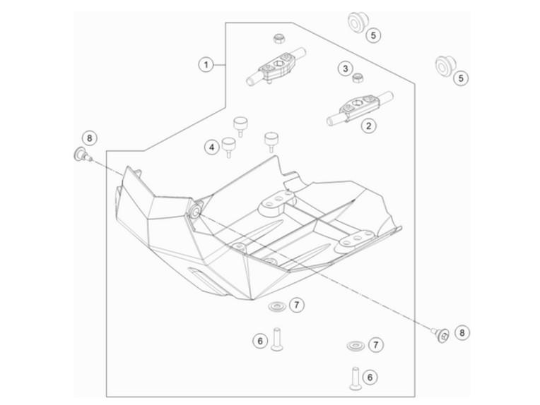 Motorschutz Kunststoff 690 Enduro SMC