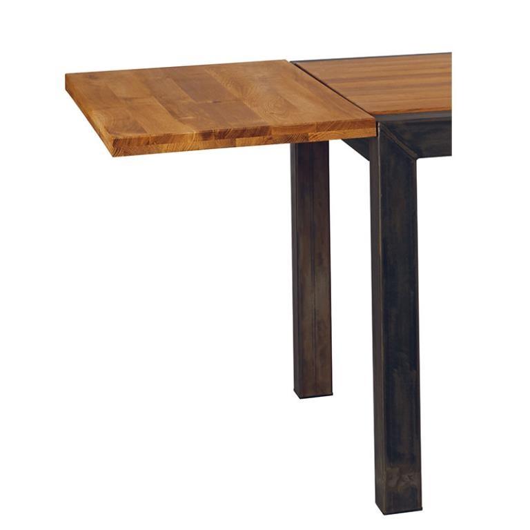 allonge pour table chene carree 125cm 50x125x4 ferscott