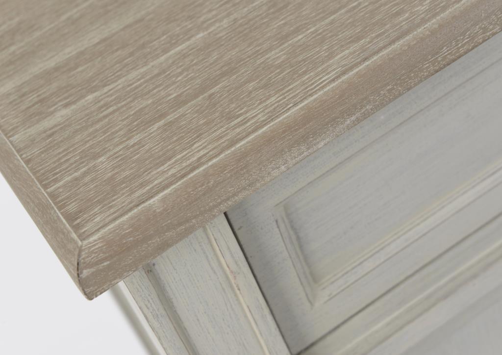 bahut 2 portes en bois gris clair plateau naturel 100 cm edouard l 100 x p 35 x h 80 amadeus