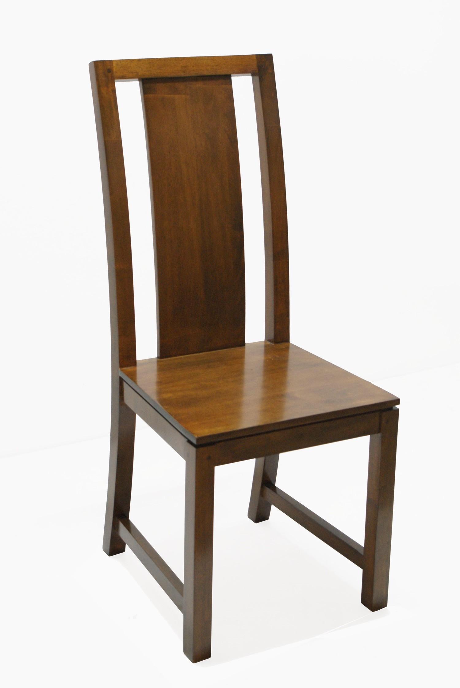 chaise hevea dossier haut 45x52x105cm helena