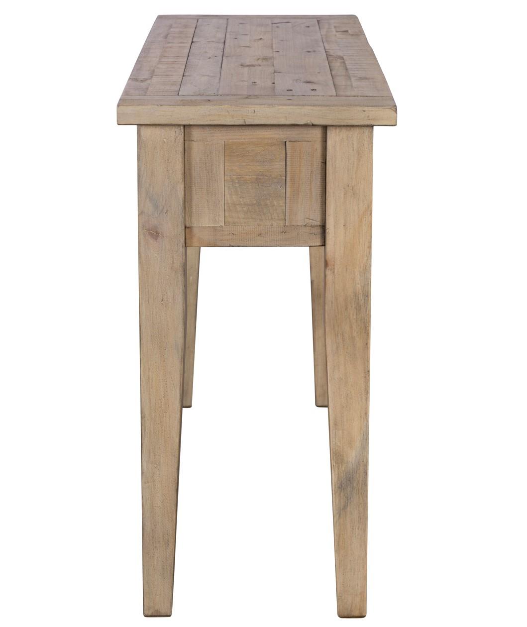 console 2 tiroirs bois recycle clair salerne