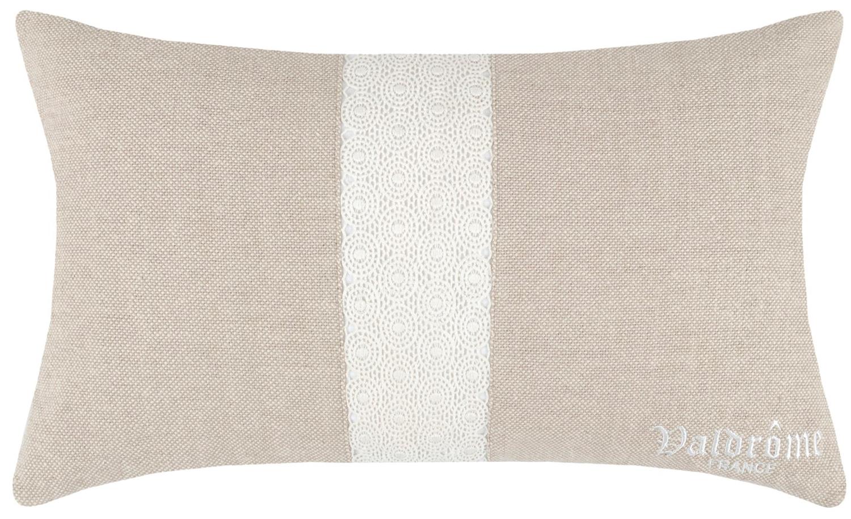 coussin gris bande centrale gris clair 30 x 50 cm