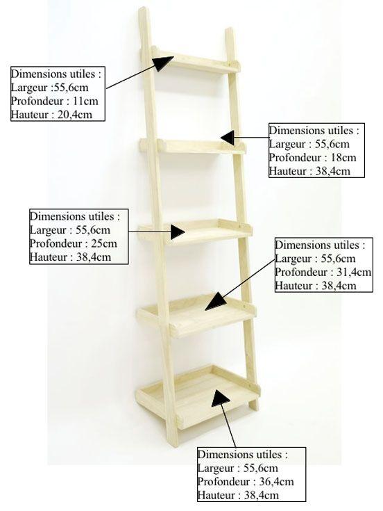etagere escalier hevea h190cm helena
