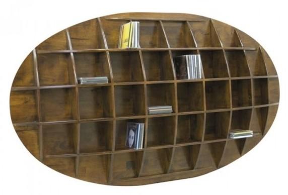 etagere murale ovale range cd hevea 150x18x90cm maori