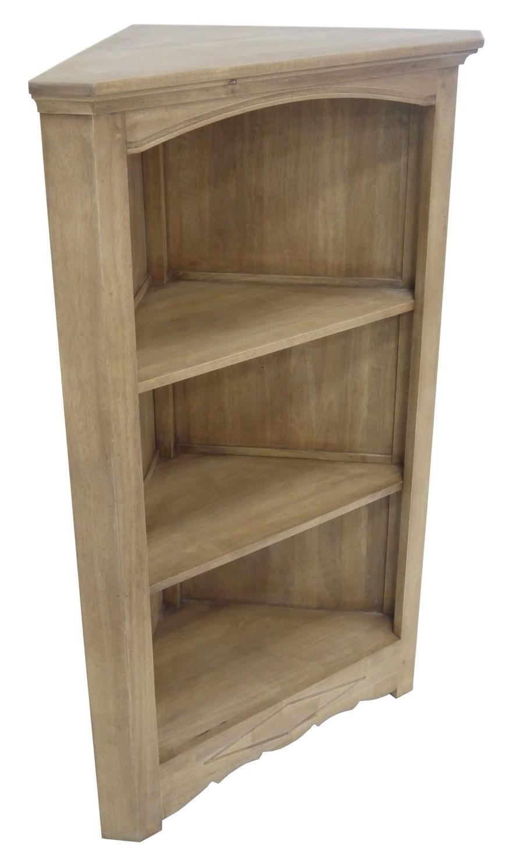 meuble de rangement d angle ouvert hevea 3 niches 78x45x124cm tradition