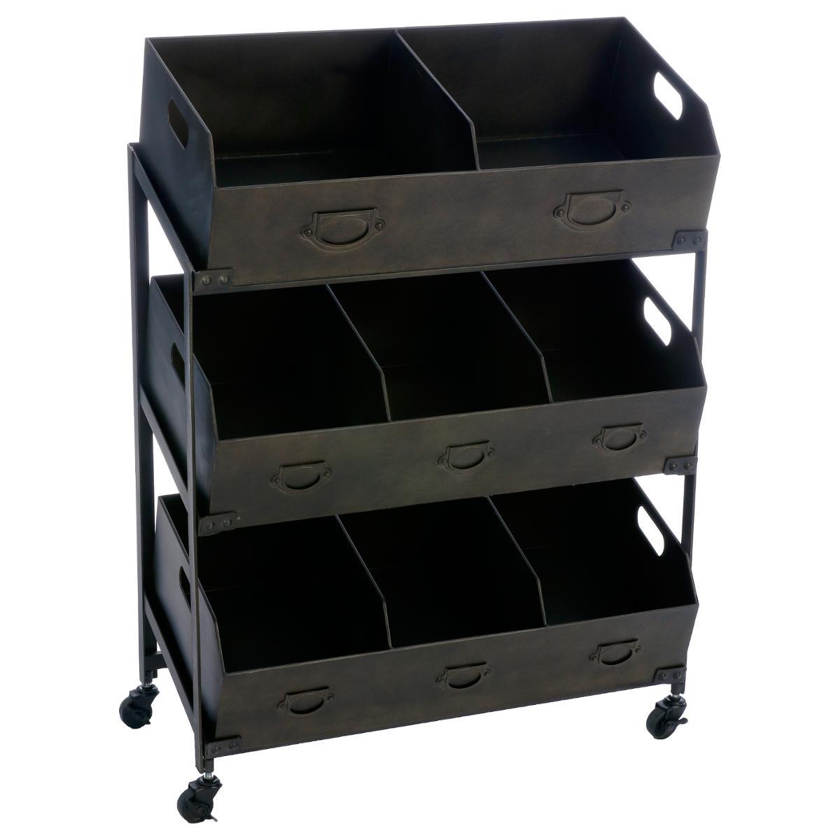 meuble de rangement en metal 8 casiers 78x40x106cm
