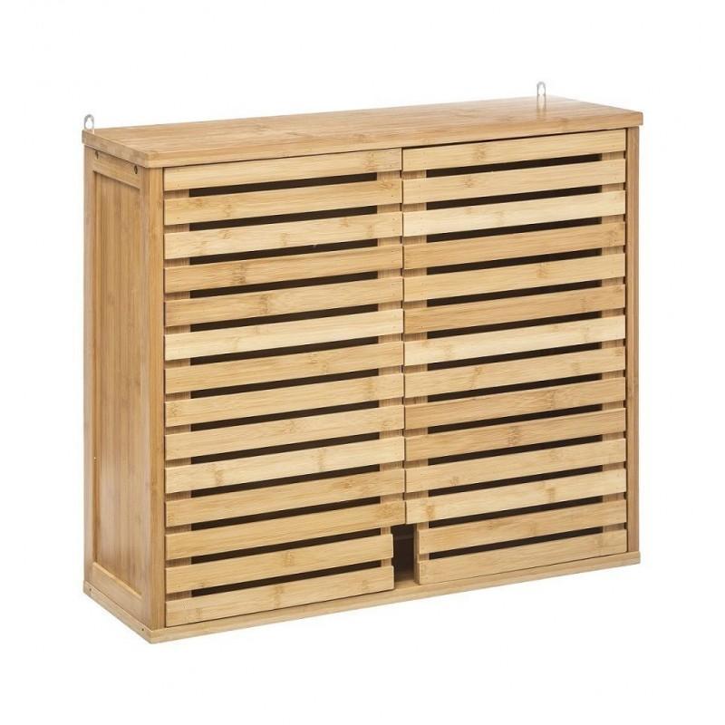 meuble haut 2 portes en bambou