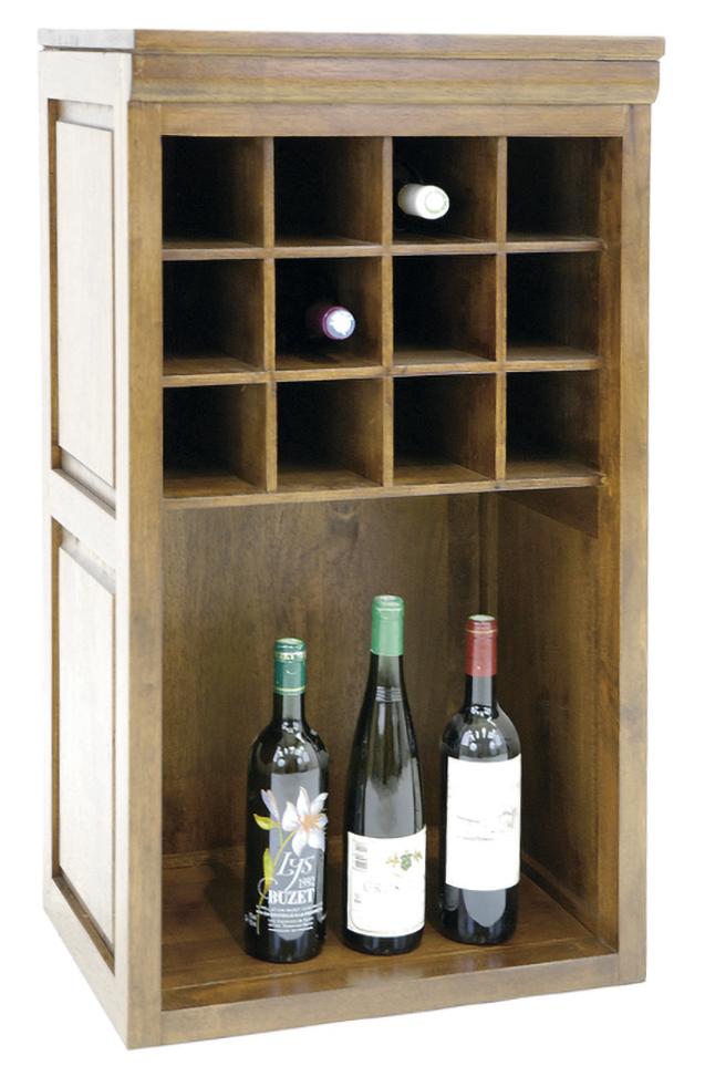 meuble range bouteilles hevea 49x38x88cm tradition