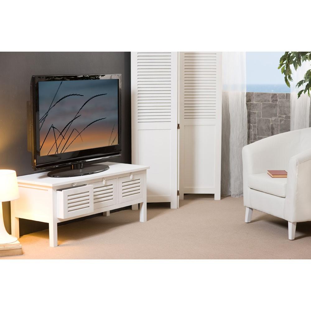 meuble tv 3 portes 110cm ella