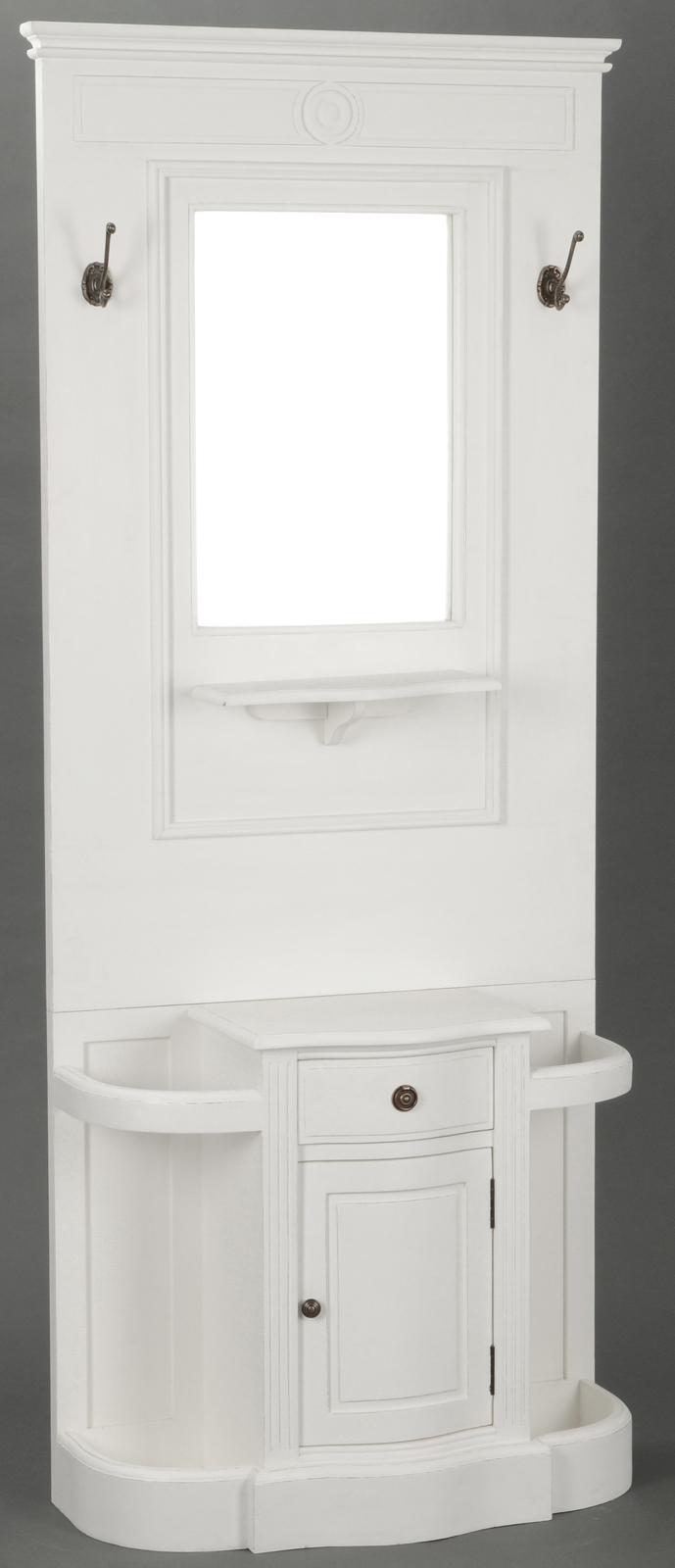 meuble vestiaire entree classique chic agathe l 80 x p 33 x h 190 blanc antique amadeus