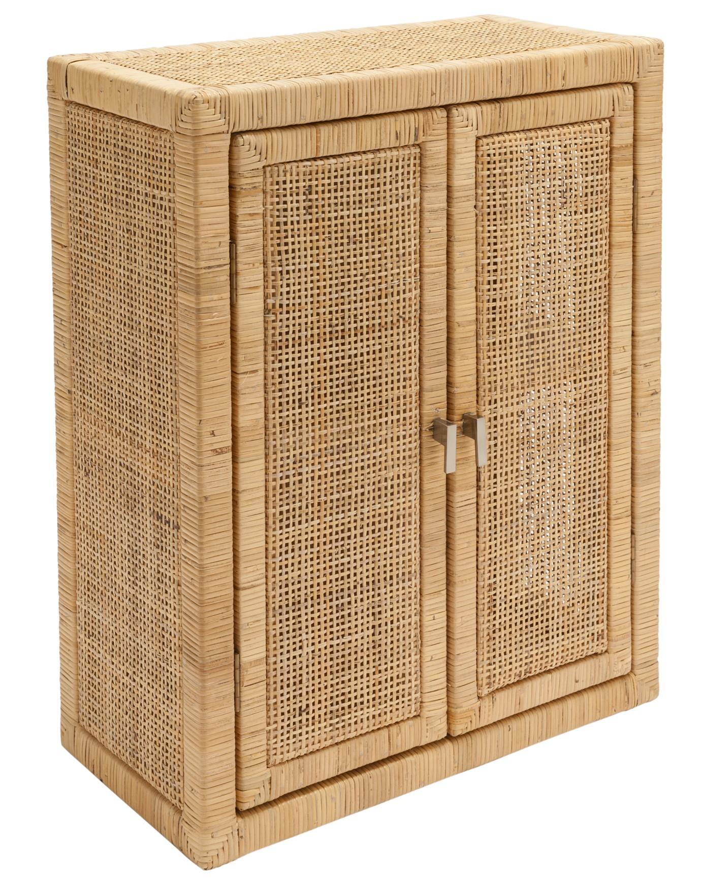 petit meuble de rangement rotin naturel saigon kok