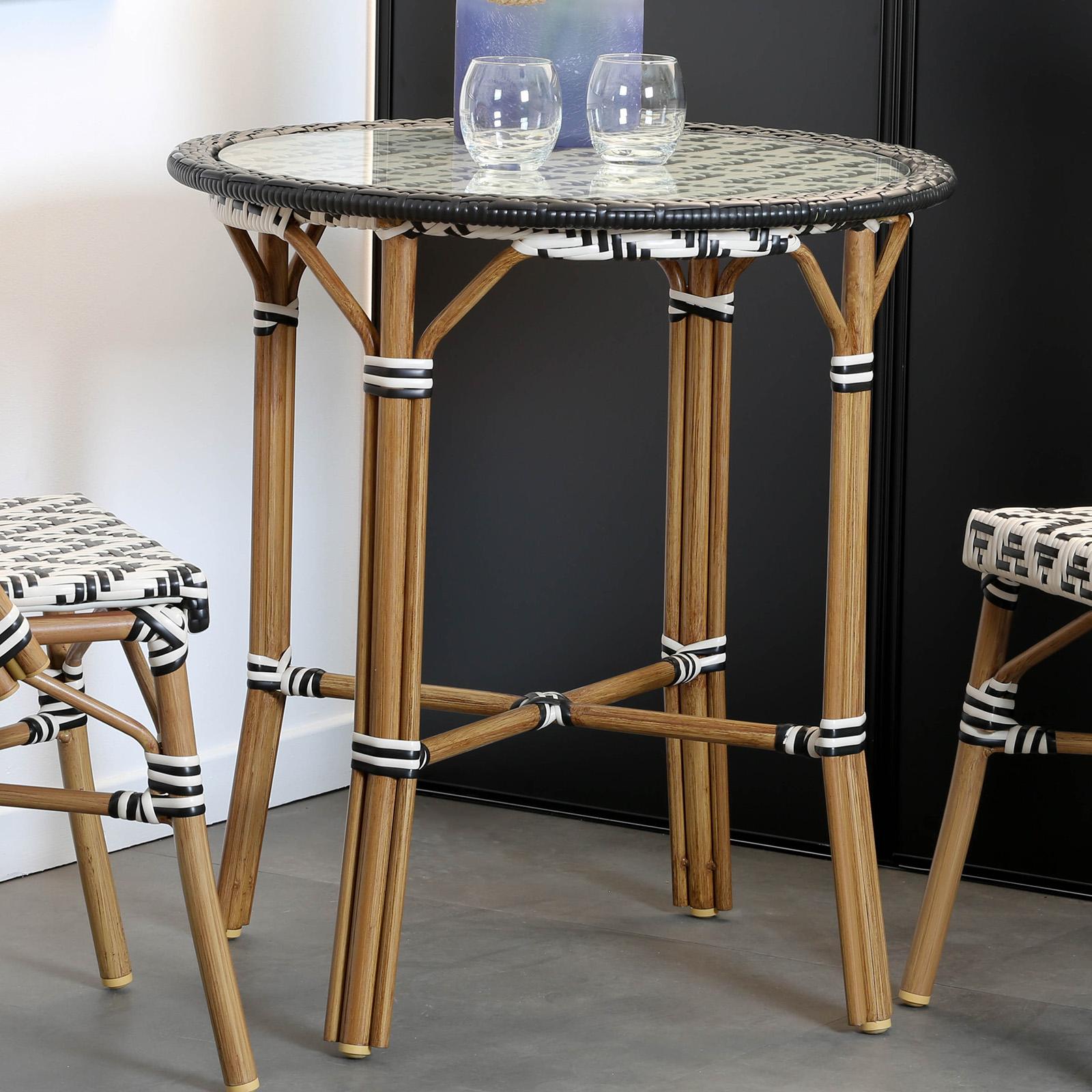 petite table de jardin motif zigzag