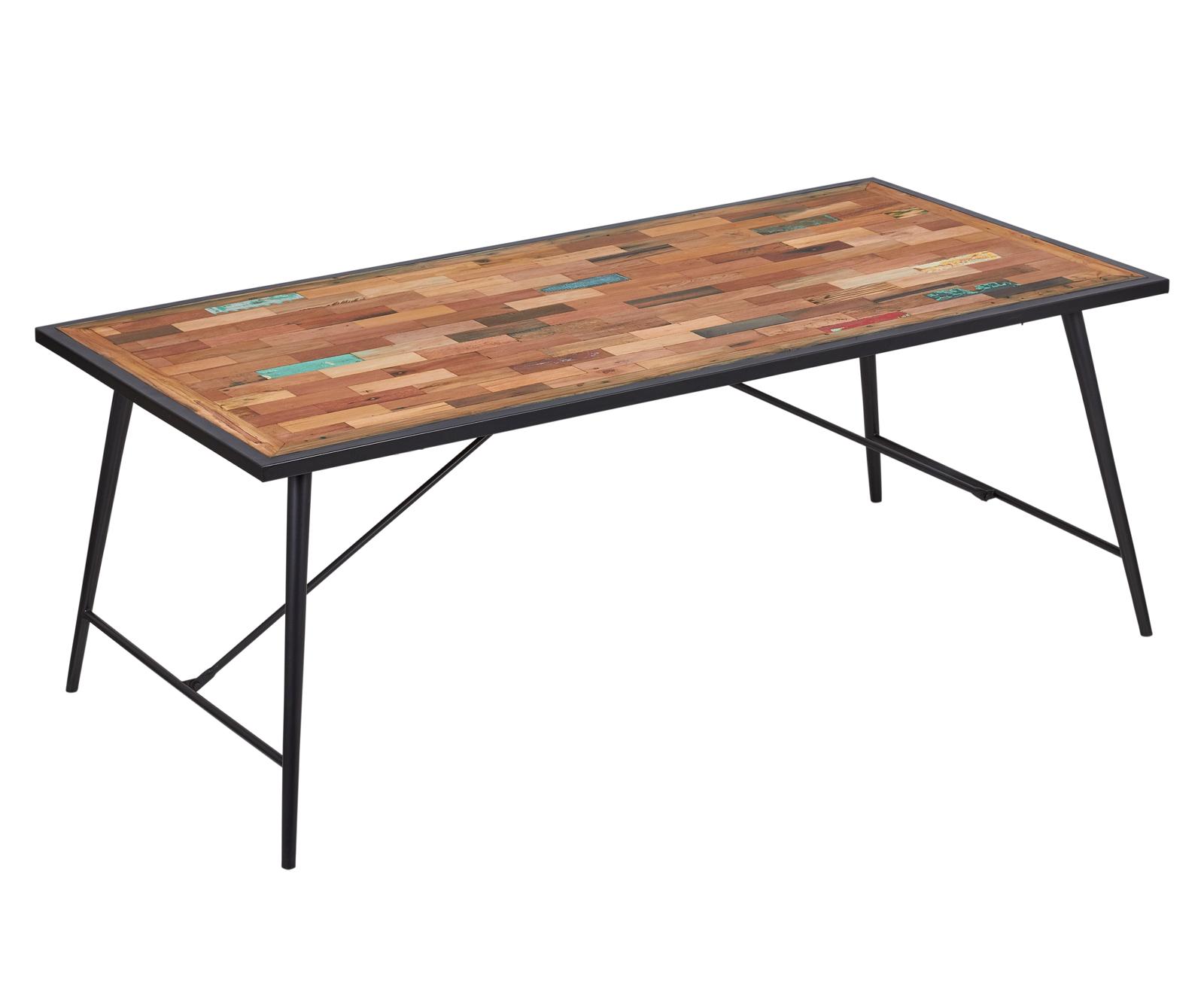 table 10 personnes 200x100 bois recycle drakkar