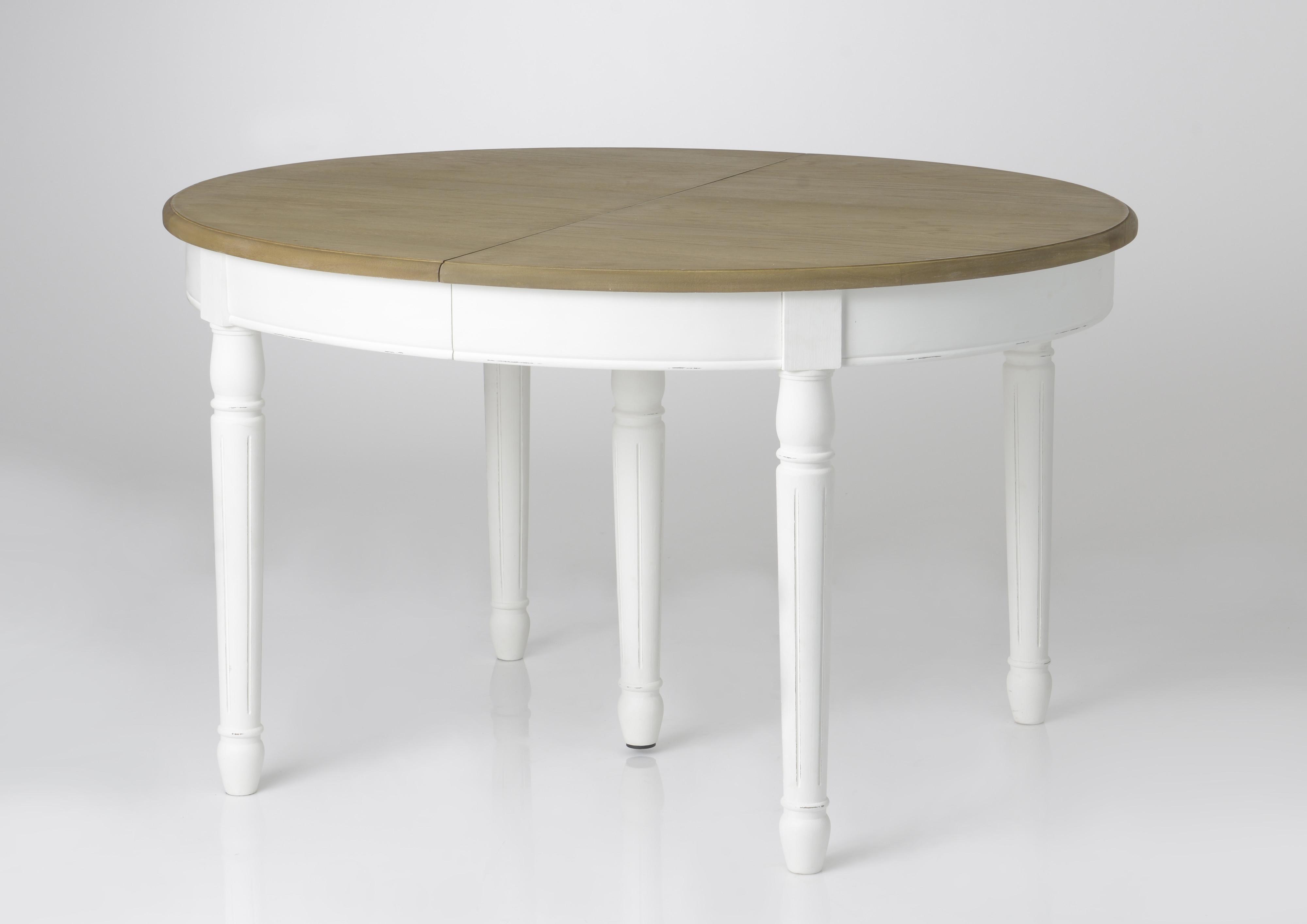 table a manger ovale extensible bois massif blanc prague tables a manger pier import