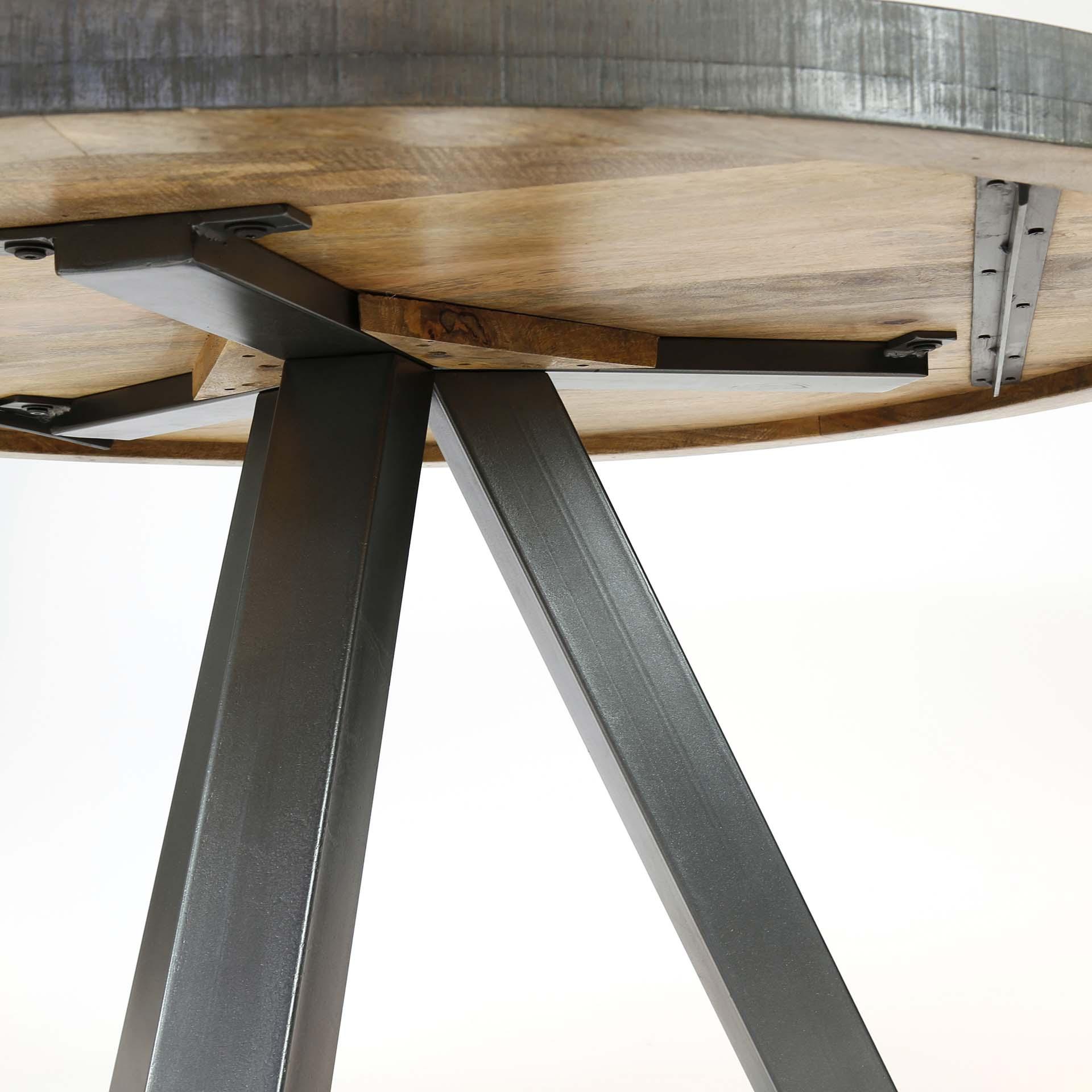table a manger ronde 120cm manguier lucknow
