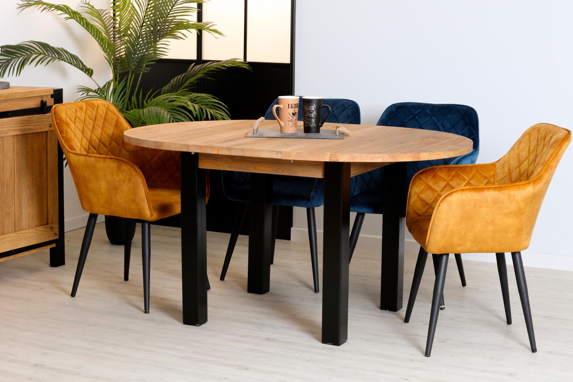 table a manger ronde bois massif 110 150 loundge avec 1 allonge