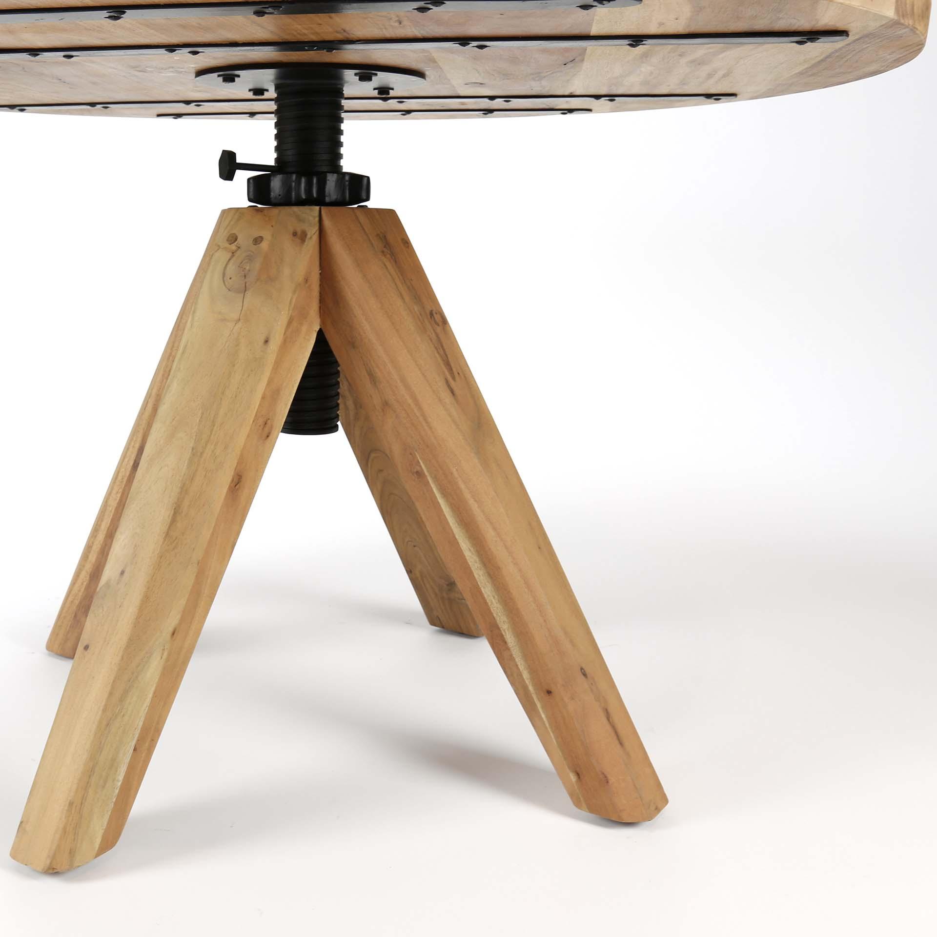 table a manger ronde reglable en hauteur 135 cm tribeca