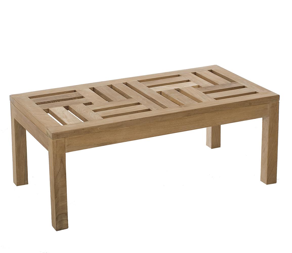table basse de jardin en teck brut massif 100cm summer