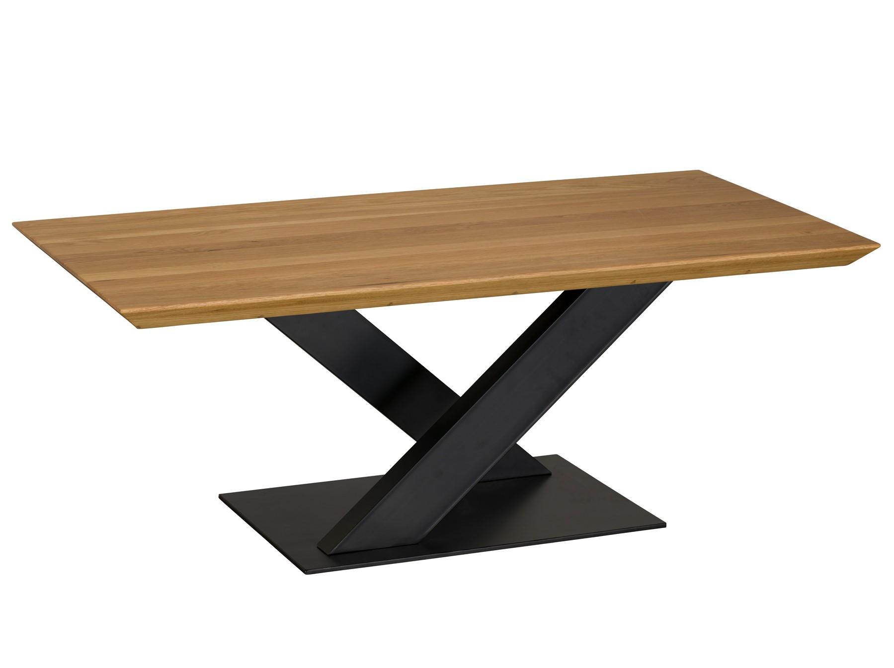 table basse moderne bois pied en croix volga tables basses pier import