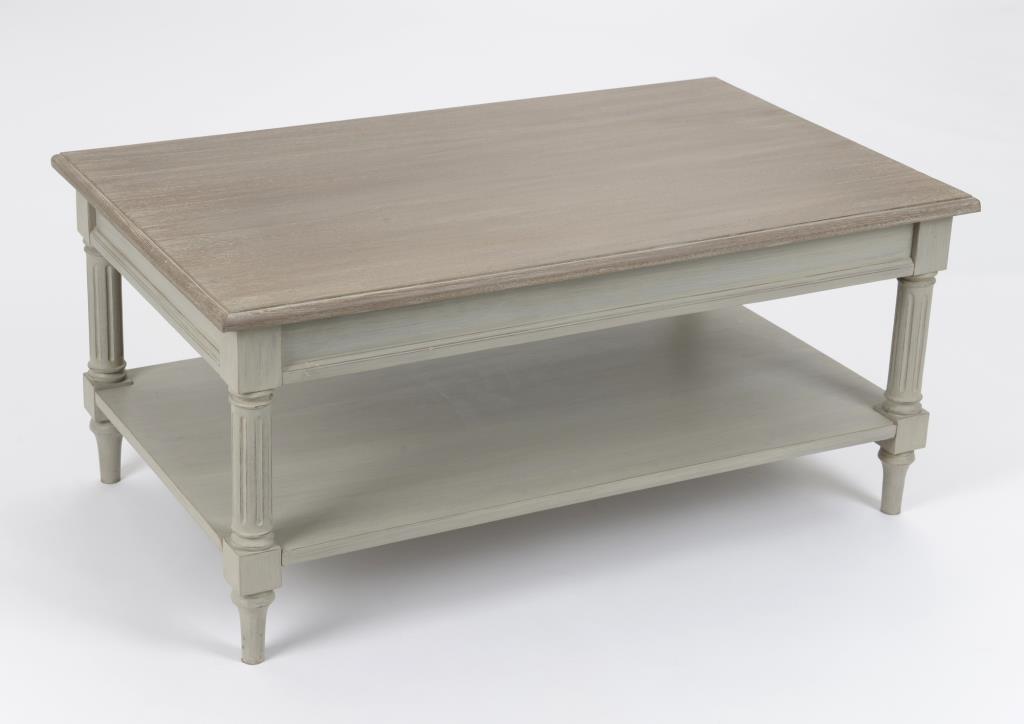 table basse rectangulaire cerusee grise louis xvi 100 cm edouard l 100 x p 60 x h 45 amadeus