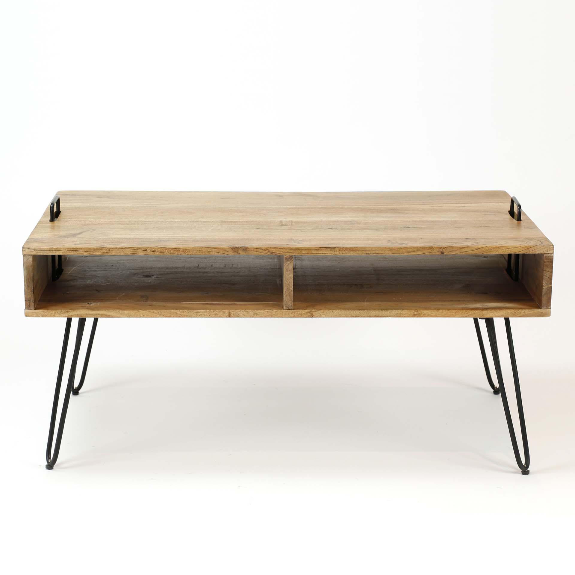 table basse scandinave bois massif 100 cm melbourne