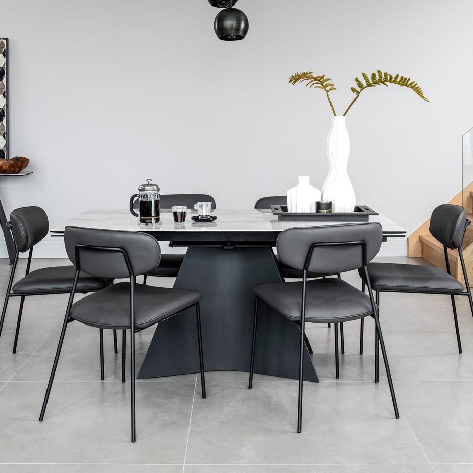 table ceramique extensible 160 240 cm verone