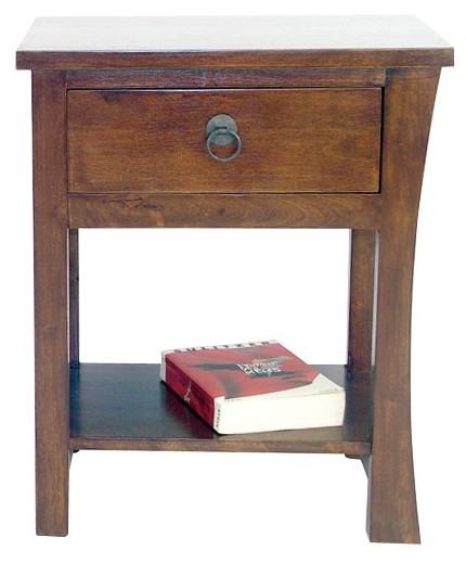 table de chevet bois massif style colonial modele 1 maori