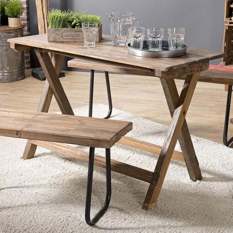table pliante en bois 120x52 jodhpur