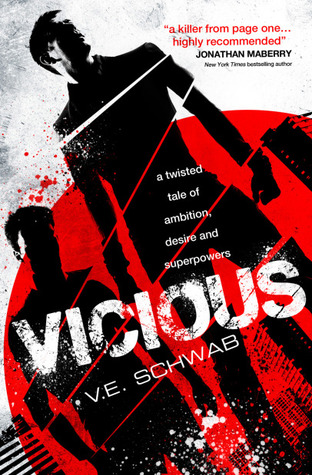 Vicious by V.E. Schwab | reading, books, book covers, cover love, black, white, red