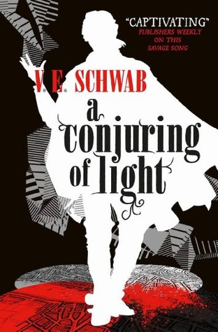 A Conjuring of Light by V.E. Schwab | reading, books, book covers, cover love, black, white, red