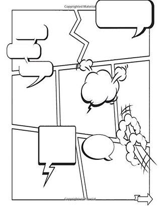 Comic Book Creator Blank Squares: Color Interior Quote