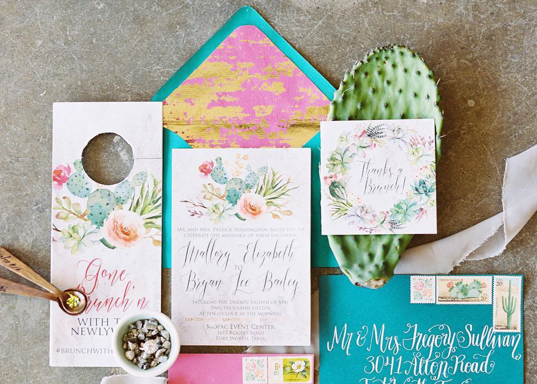 Coloured Card Wedding Invitations