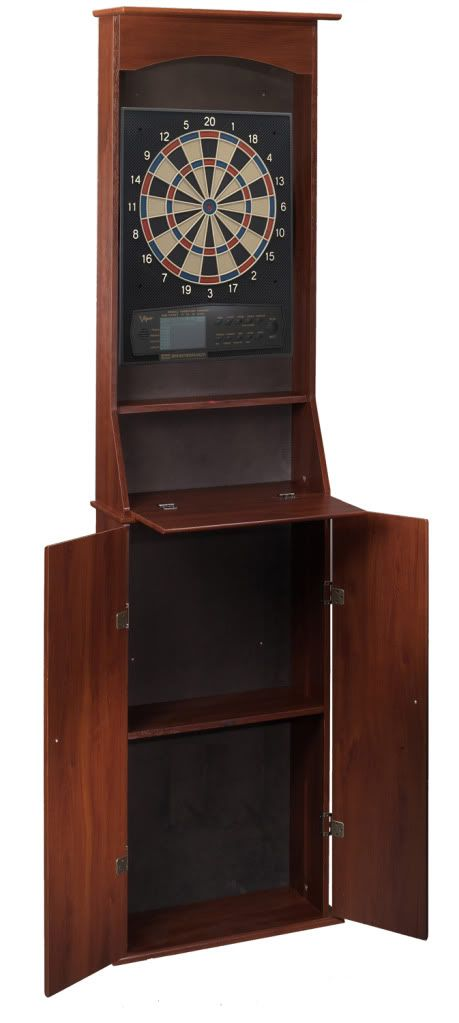 Stand Up Dartboard Cabinet  GameTablesOnlinecom
