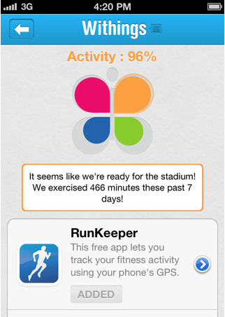 Health Graph Best Practices include exposing RunKeeper as part of your in-app experience