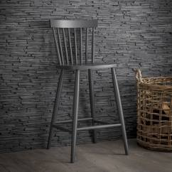Replacement Chair Spindles Uk Dining Table With 8 Chairs Wooden Spindle Bar Stool In Grey Or Black Garden Trading