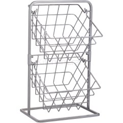 Kitchen Wire Storage Buy Table Industrial 2 Tier Distressed Paintwork Style Image