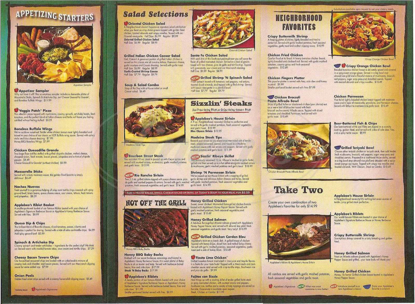 image regarding Printable Applebees Menu called Applebees Lunch Menu Printable - 12 months of Fresh new Drinking water