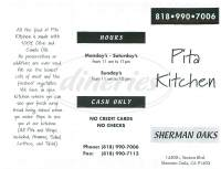 Pita Kitchen Sherman Oaks Ca 91403  Wow Blog