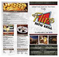 Flips Patio Grill Menu - Fort Worth - Dineries