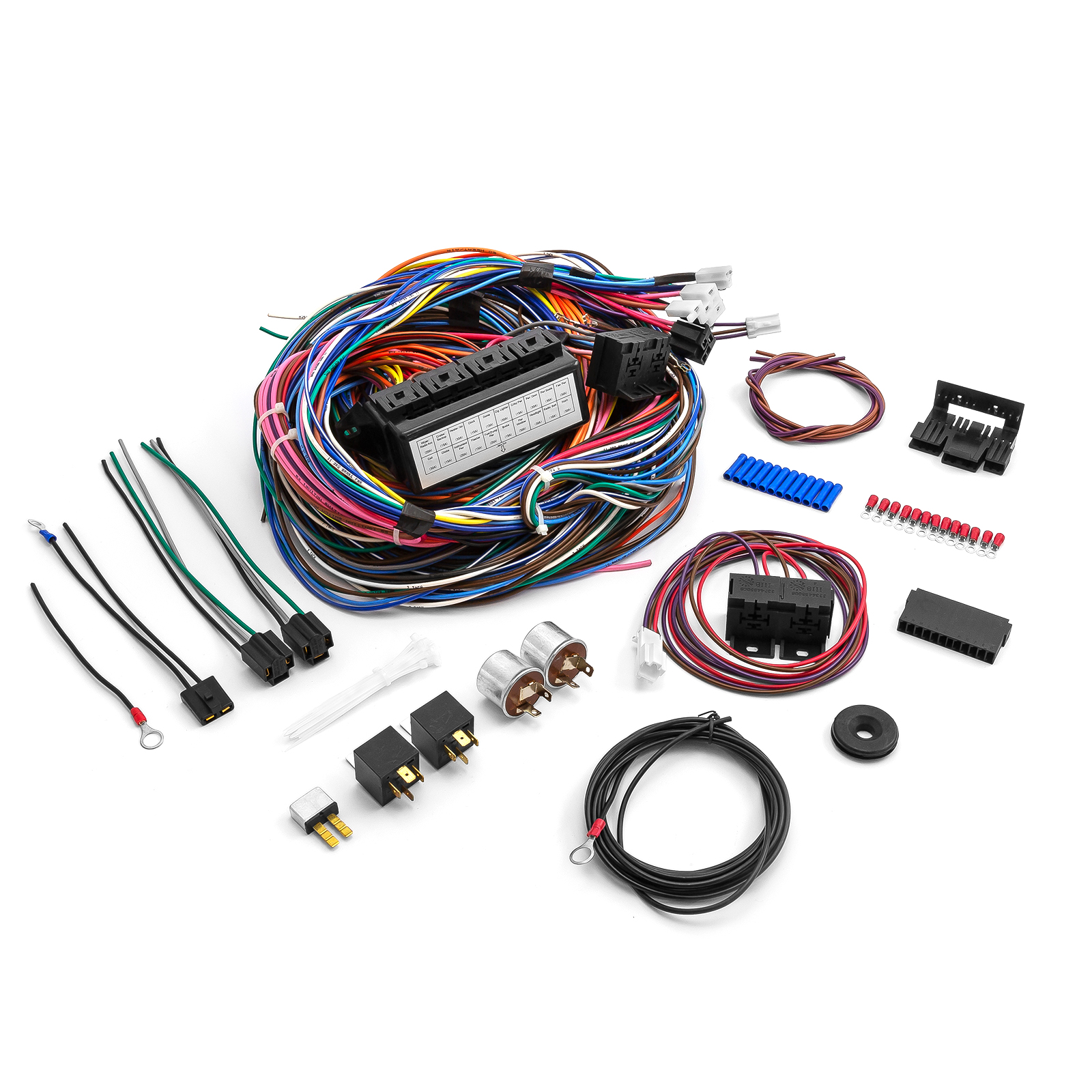 hight resolution of universal 20 circuit wiring harness kit street rod hot rod race car