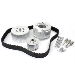 holden 253 304 308 gilmer drive kit w powersteering and air conditioner pulley [ 1600 x 1600 Pixel ]